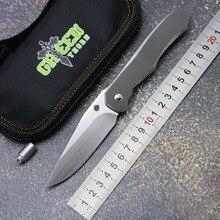 Yeşil diken özelleştirme quantum flipper katlama bıçak S110V bıçak TC4 titanium kolu açık kamp av cep bıçaklar