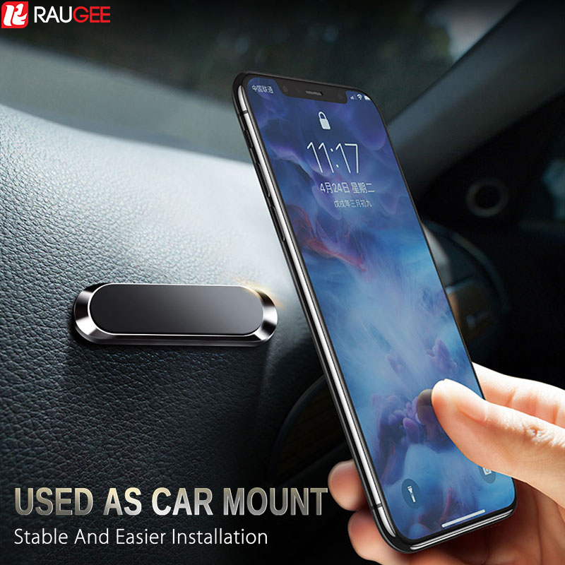 Raugee Magnetic Car Phone Holder Convenient Universal Car Stand Magnetic Holder For Iphone Samsung Xiaomi All Mobile Smartphone