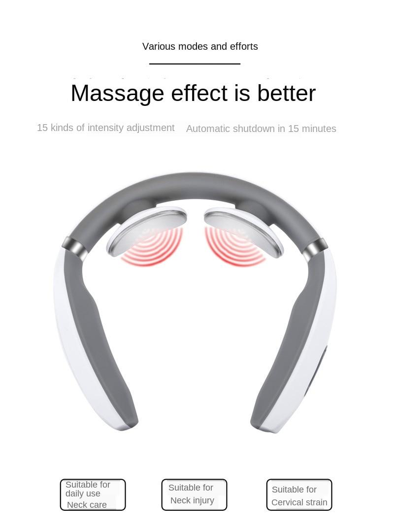 Dezenas pescoço massageador eletromagnético pulso fisioterapia multifunções
