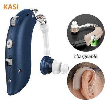 Mini akumulator aparaty słuchowe cyfrowe aparaty słuchowe BTE regulowany dźwięk wzmacniacz dźwięku przenośny głuchy starszy cyfrowy aparat słuchowy tanie i dobre opinie KASI