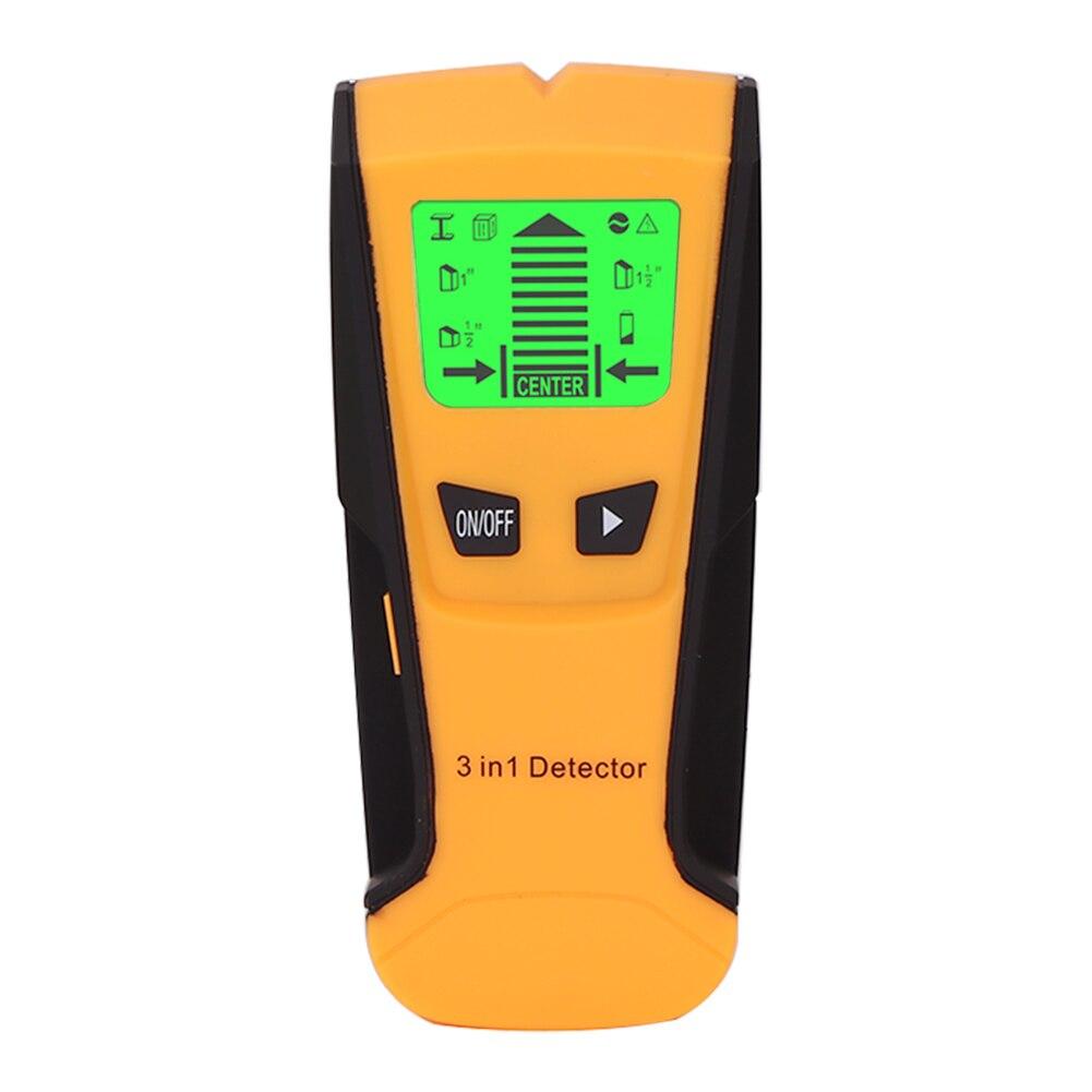 3 в 1 металлодетектор металлический живой провод и шпилька детектор деревянный стволовых центр детектор с зондом настенный сканер электрич...