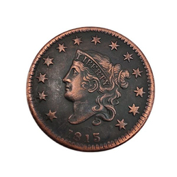 1815 American Commemorative Coin Retro One Cent Coin Collection Home Decoration Souvenirs Handicrafts Gifts