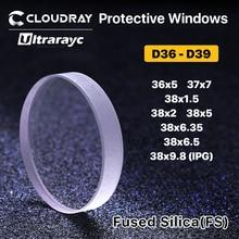 Ultrarayc Protective Windows D36-D39mm Quartz Fused Silica for Fiber Laser 1064nm P0595-58601