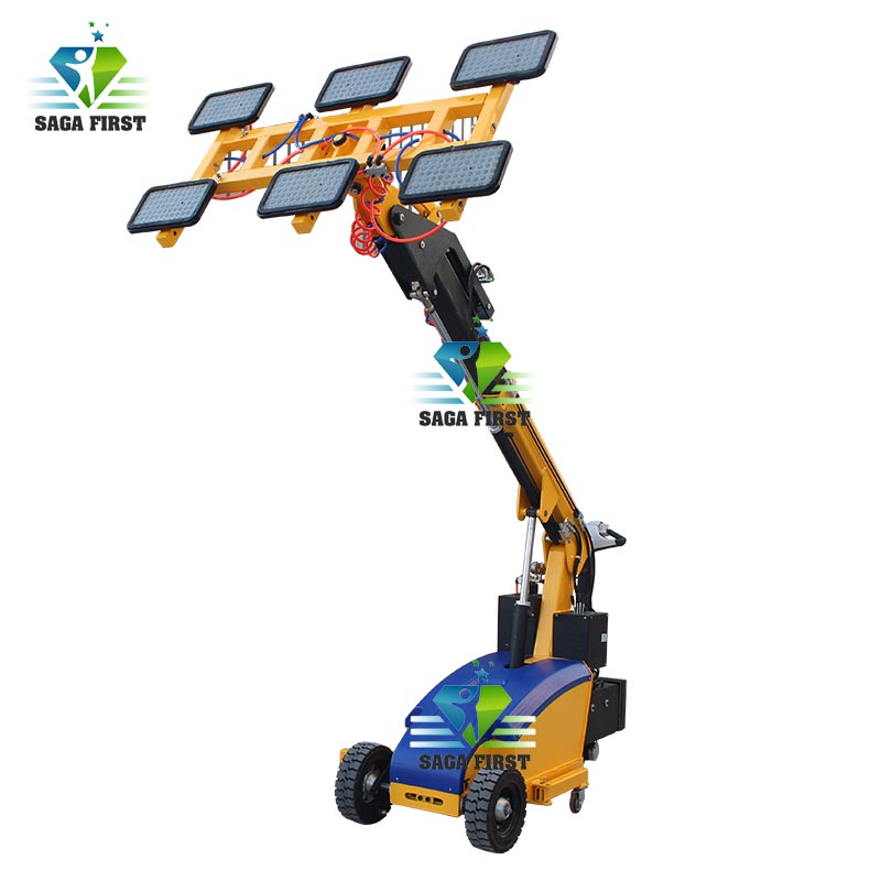 Flexible GL-LD Vacuum Glass Lifter With Boom Lift For Installing Windows