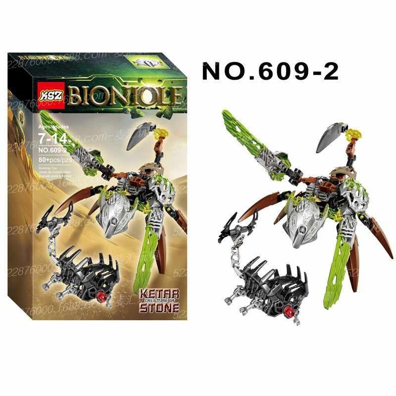 Xsz 609-1 guerreiro bioquímico bionicle uxar criatura de tijolos de selva blocos de construção de brinquedo compatível com brinquedos legoinglys