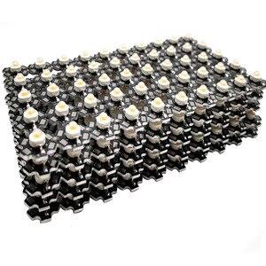 Image 3 - 100 teile/los 3W 45mil 380nm 840nm 3,2 3,6 v 700mA Volle Geführte spektrum Wachsen Licht Dioden Für anlage Wachsen mit 20mm Schwarz PCB stern