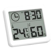 81x71x10 мм Многофункциональный термометр гигрометр автоматический электронный контроль температуры и влажности часы большой ЖК-экран