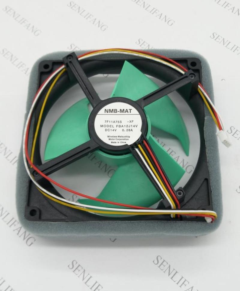 FBA12J14V 7F11A75S Refrigerator Fan DC 14V 0.28A 125x125mm 4-wire