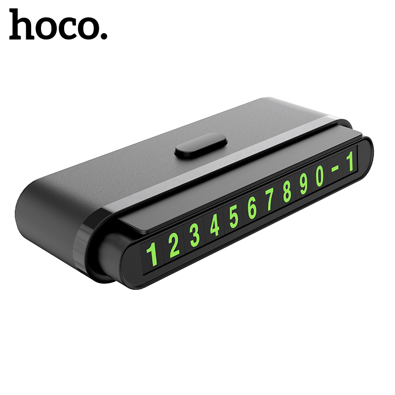 HOCO Hidden Car Temporary Parking Card Phone Number Card Plate Telephone Number Car Park Stop Automobile Accessories Car-styling