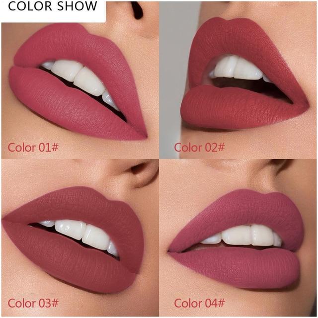 LULAA Lip Gloss  Makeup Liquid Matte Velvet Cosmetics Pigment Lipstick Glitter Moisturizer Longlasting 24 Colors Fashion TSLM1 4
