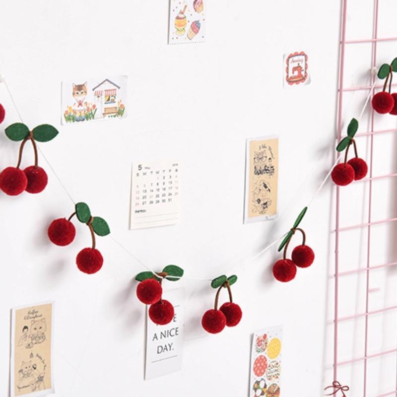 Хлопковая клубника, баннер для декора фруквечерние, клубника, стиль 2,3 метров, гирлянда, баннер на день рождения/свадьбу|Ловцы снов и подвесные украшения| | АлиЭкспресс