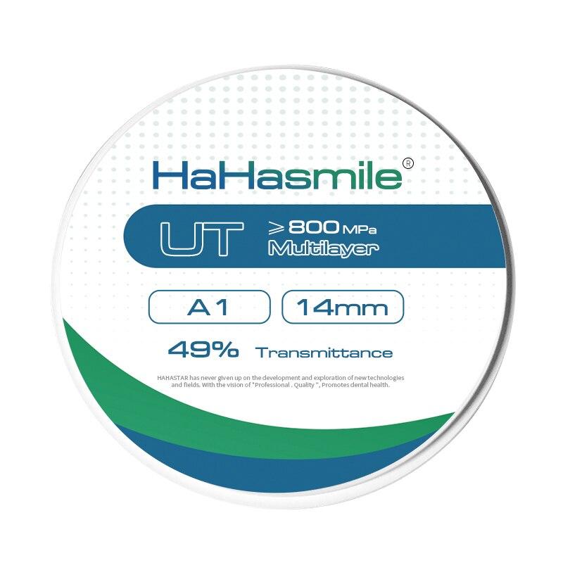 HaHasmile-Laboratorio Dental UT multicapa, Puente y chapa, 6 capas, Color multicapa, 98-A1