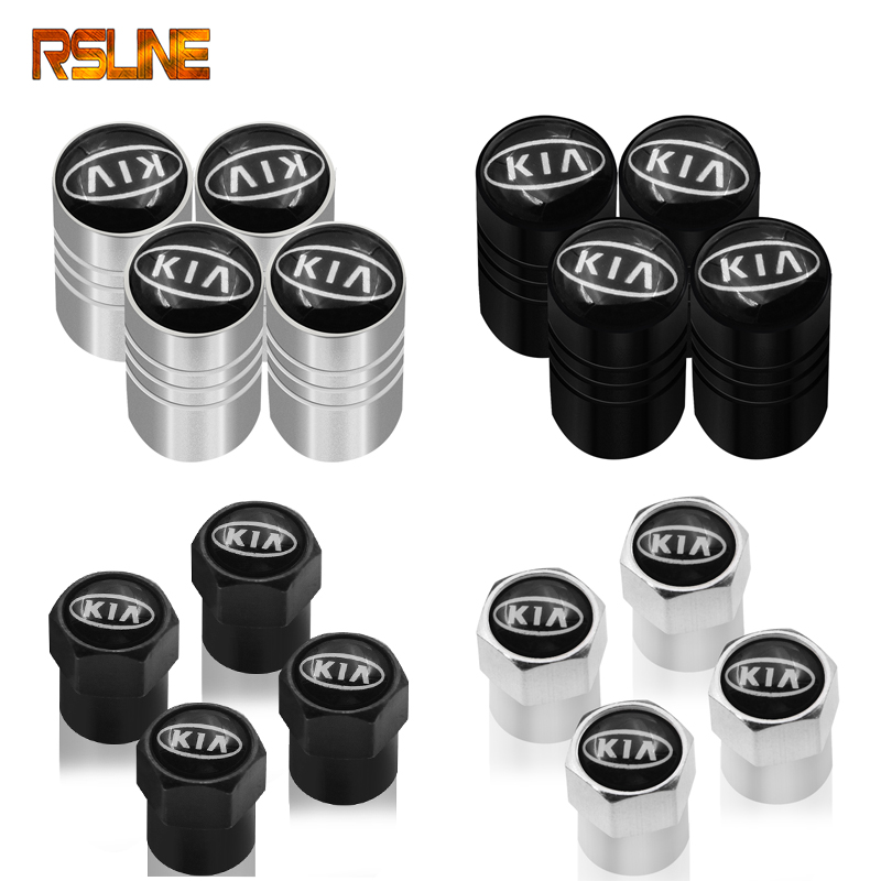 HOT 4PC Car Wheel Tire Valve Stem Cover Caps For Kia Ceed Rio Sportage R K3 K4 K5 Ceed Sorento Cerato Optima 2015 2016 2017 2018