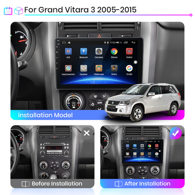 Junsun V1 Pro 4G Android 10.0 4G+64G Car Radio Multimedia Player For Suzuki Grand Vitara 3 2005  2015 GPS Navigation no 2din dvd Car Multimedia Player    -