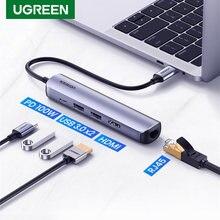 Ugreen tipo USB C Hub USB C 3.1 a 4K compatibile HDMI RJ45 PD USB 3.0 carica OTG adattatore USB C Dock per MacBook Air Pro 2020 PC