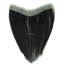 Wig Toupee Frontal Thin-Skin Forehead Human Men PU All-V Loop Indian 6-Fringes
