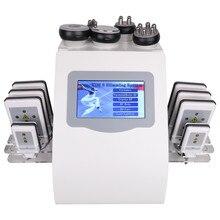 2020 nouveauté 6 en 1 40K Cavitation ULTRASONIQUE De Vide de Radiofréquence Laser 8 Pads lipo Laser Minceur Machine Pour Un usage domestique