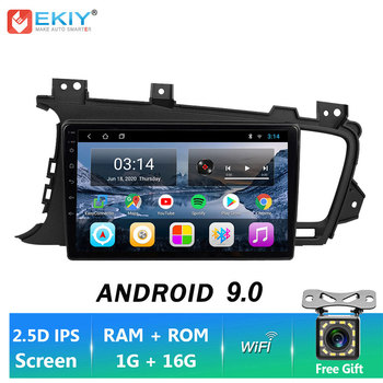 EKIY TN 9'' 2DIN Android 9.0 Car DVD LTE GPS Navigation For KIA K5 2009-2015 Car Stereo Multimedia Player Head Unit Autoradio image