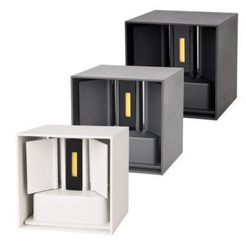 12W możliwość przyciemniania COB nowoczesny krótki sześcian regulowana powierzchnia LED kinkiet zewnętrzna wodoodporna lampa ścienna światło ogrodowe kinkiet tanie i dobre opinie GSKGYXGS CN (pochodzenie) Aluminium Pieczenia Up Down Surface Mounted ROHS IP65 85-265 v Kinkiety 5 years Nowoczesne Żarówki led