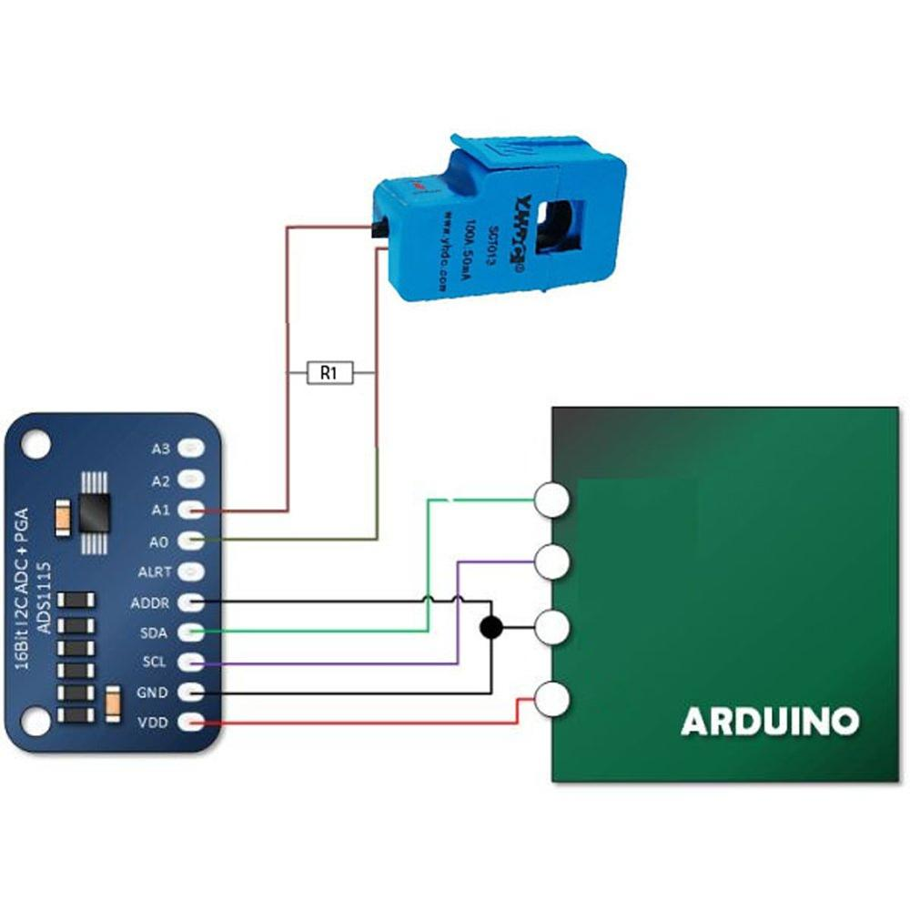 SCT-013-000 YHDC 30A 50A 100A выдвижной трансформатор тока SCT013000