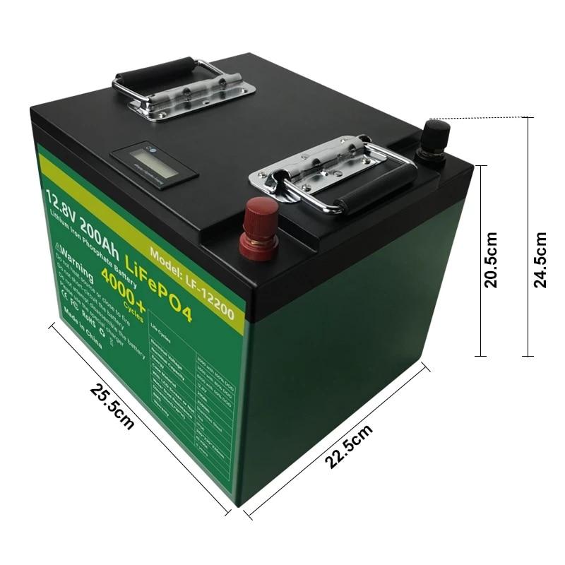 12V 200Ah LiFePO4 Batterij Pack Met Bulit Bms 2400Wh Lithium-ijzerfosfaat Lifepo4 Batterij Voor Rv Golf auto Kampeerders Geen Belasting 5