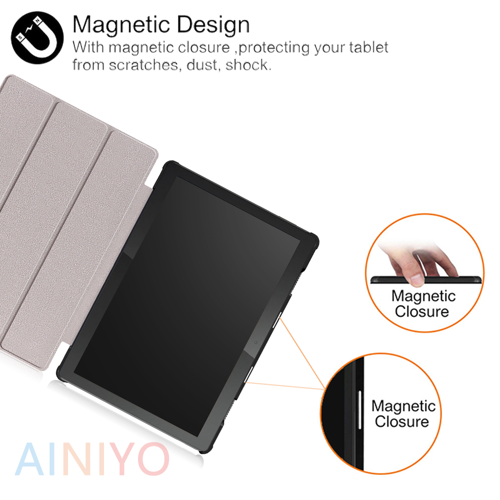 lowest price Cover For lenovo tab M10 TB-X605F TB-X605L TB-X505F PU Leather Magnetic Stand PC For Lenovo tab M10 Shell   film  Stylus pen