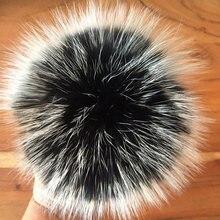 5pcs DIY Real Fox Fur Pompom Mink Fur Pompon Raccoon Fur Pompoms Pom Poms For Scarf Gloves Winter Hat Cap Blanket With Buckle