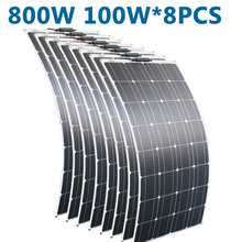 RG 100w 200w 12v 휴대용 태양 전지 패널 유연한 16V 800W 플레이트 셀 Monocrystalline 실리콘
