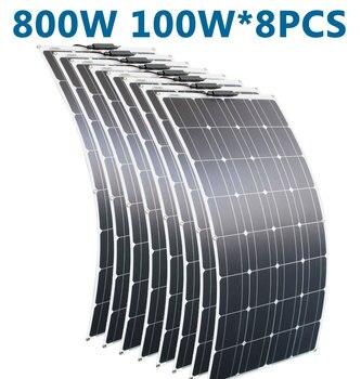 RG portable Solar Panel Flexible 16V 800W plate CELLS Monocrystalline silicon high efficiency amorphous silicon thin film solar cells