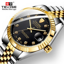 TEVISE Luxury Watches Mens Automatic Mec