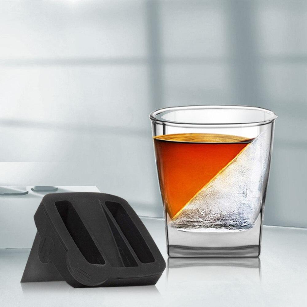 Форма для льда YCOO, 9 унций, новый стакан для виски, стакан для виски с силиконовой формой для льда