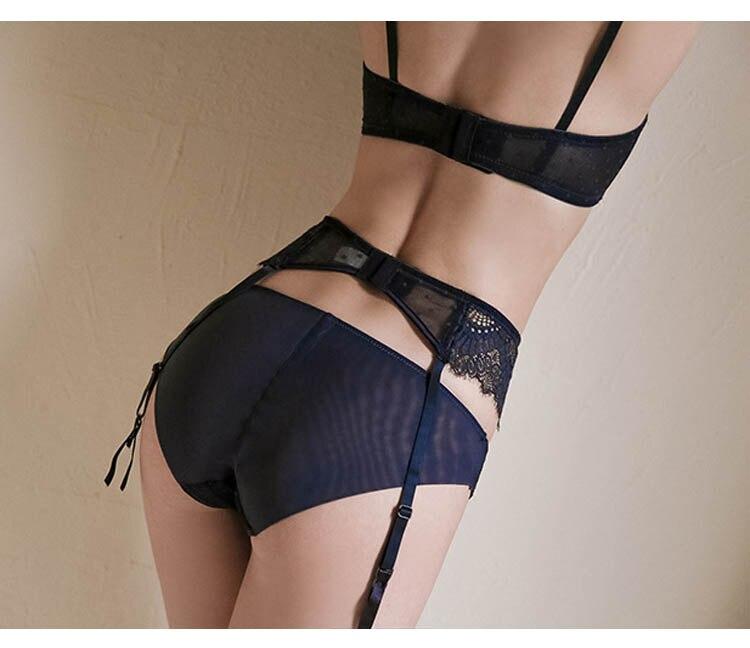 CINOON New Plus Size Underwear Sexy Lingerie Set Push up Bra Set Intimates Temptation Lace bra+panties+garter 3 PcsLots (29)