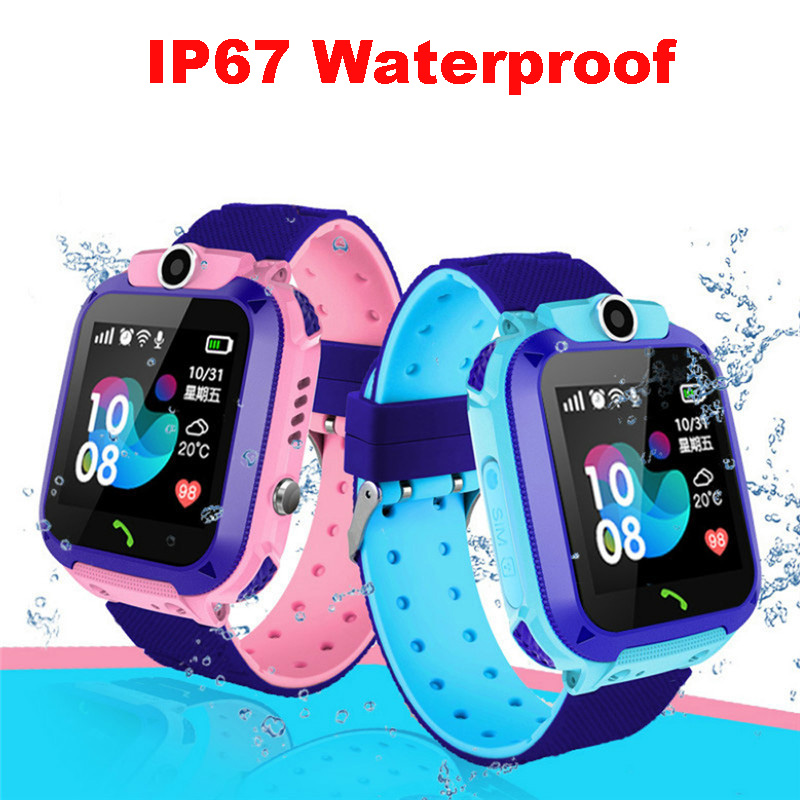 Children Phone Smart Watch IP67 Waterproof Smartwatch Selfie Camera SOS Anti-lost LBS Location Tracker Toys For Children Gift