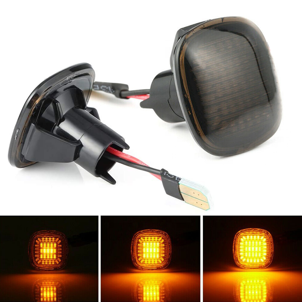 2Pcs Led Dynamic Side Marker Light For Seat Leon Ibiza Cordoba Skoda superb Octavia Fabia Roomster Rapid Audi A3 8L A4 B5 A8