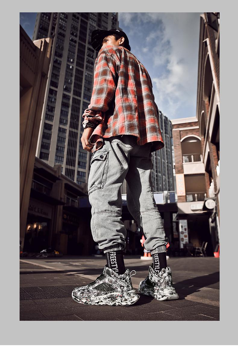 H21f3f3c8659f4c60a7801f1c3ec8be10F Fashion Men's Hip Hop Street Dance Shoes Graffiti High Top Chunky Sneakers Autumn Summer Casual Mesh Shoes Boys Zapatos Hombre