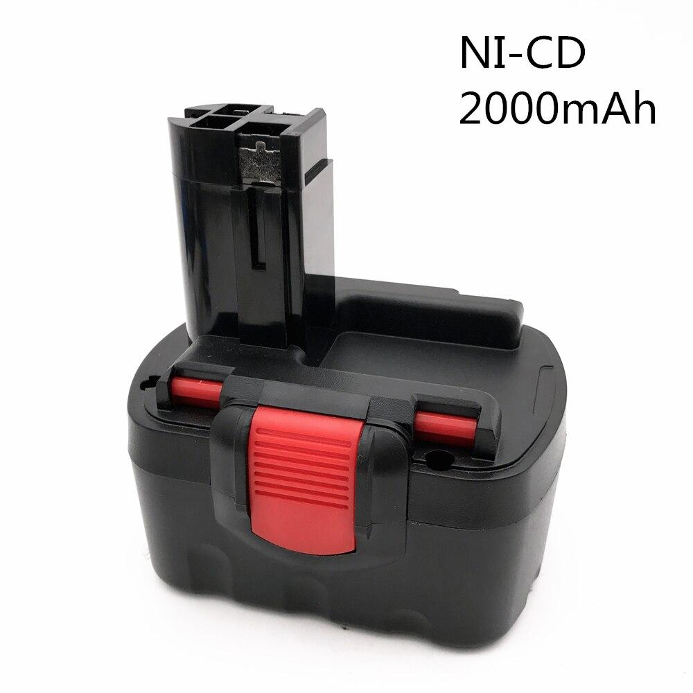 Bateria de energia recarregável para bosch, ferramenta de bateria potente 14.4v 2000mah ni-cd para bat038 15614 1661 1661k 22614 23614 32614 33614
