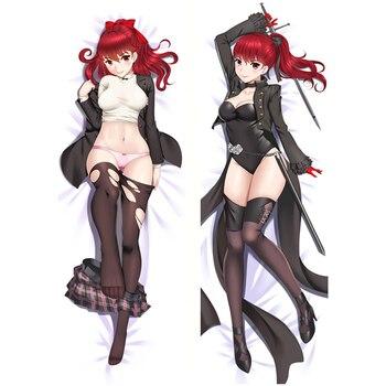 Anime juego Persona 5 chica Sexy Makoto Niijima Kasumi Yoshizawa funda para almohada cubierta Otaku cuerpo dos lado Dakimakura