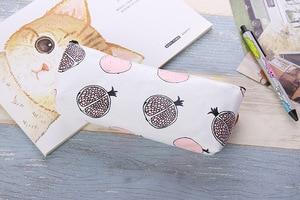 Image 5 - Cute Kawaii Fruit Cake Macaroon Cookie Koran Japanese Pencil Pouch Case Bag School Makeup Supplies Stationery
