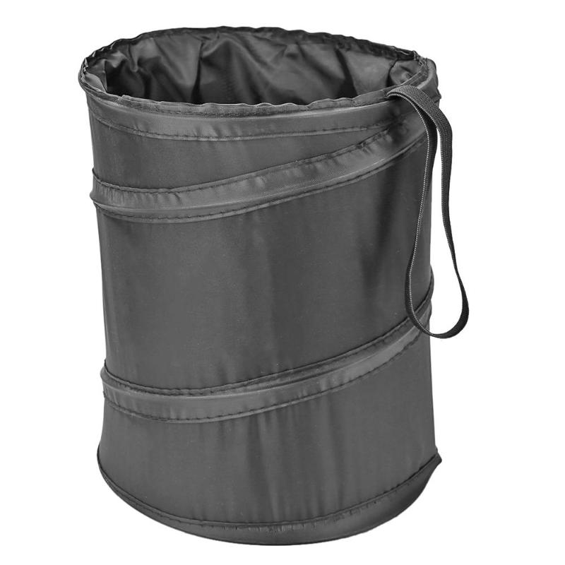 New Car Can Pack Bag Waterproof Car Trash Bag Foldable Oxford Cloth Car Garbage Bin Storage Bucket Trash Can with Side Pocket in Waste Bins from Home Garden