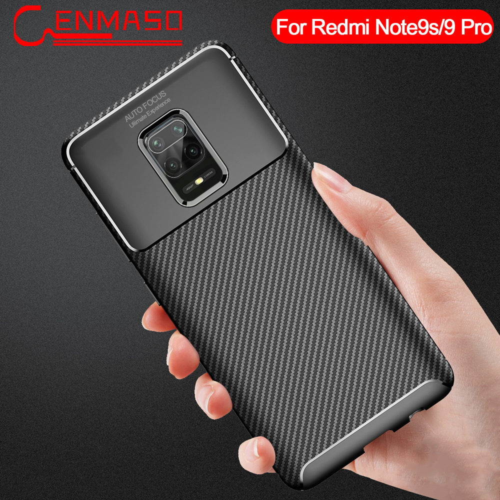 For Xiaomi Redmi Note 9S Case Luxury Carbon Fiber TPU Soft Cover For Redmi Note 9 8 CC9 Pro A3 Lite K30 K20 Shockproof Back Case