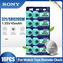 10PCS Original Sony 371 SR920SW AG6 920 LR920 LR69 171 370A 371A 1,55 V Silber Oxid Batterie Für Uhr rechner Taste Zelle