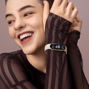 Image 5 - Xiaomi Mi Band 6 חכם צמיד AMOLED דם חמצן Bluetooth כושר קצב לב Traker עמיד למים Miband 6
