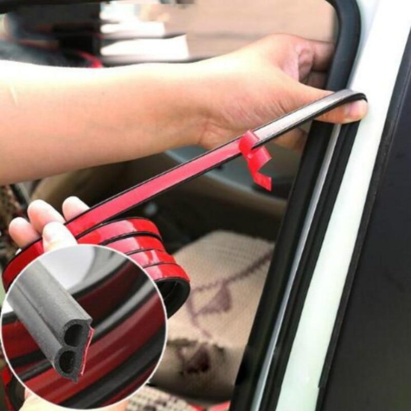 5M Car Door Seal Strips Sticker B Shape Weatherstrip Rubber Seals Sound Insulation Sealing Automobiles Interior Accessories