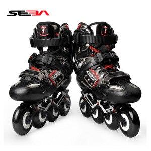 Image 4 - 2020 Original SEBA KSJ Shadow Professional Slalom Inline Skates Carbon Fiber Roller Skating Shoes Sliding Free Skating Patines