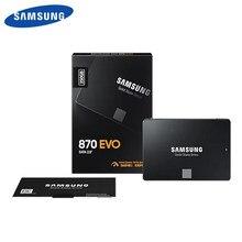 SAMSUNG-disco duro interno de estado sólido SSD 870 EVO, 500GB, 250GB, SATA III, 2,5 pulgadas, 1TB, 2TB, MLC, ordenador portátil de escritorio