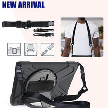 for Lenovo Tab M8 8.0 Inch Tablet Hand Strap & Shoulder Strap 360 Degree Rotatable With Kickstand Cover for Lenovo tab M10 plus