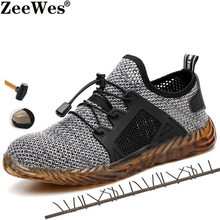 Summer Men's Light Puncture Proof Comfortable Work Shoes Boot Men's Outdoor Breathable Mesh Steel Toe Anti Smashing Safety Shoes(China)