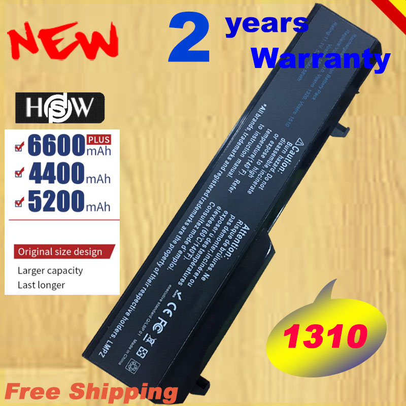 HSW 5200mAh Notebook For Dell Vostro 1310 Battery 1320 1520 1510 T114C T112C 0N241H 312-0724 451-10655 K738H Fast Shipping