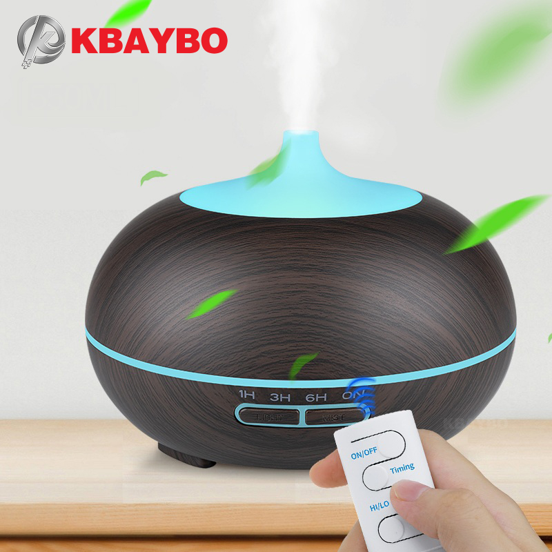 KBAYBO 300ml USB Aroma Diffuser Aromatherapy Wood Grain Essential Oil Diffuser Ultrasonic Cool Mist Humidifier For Office Home