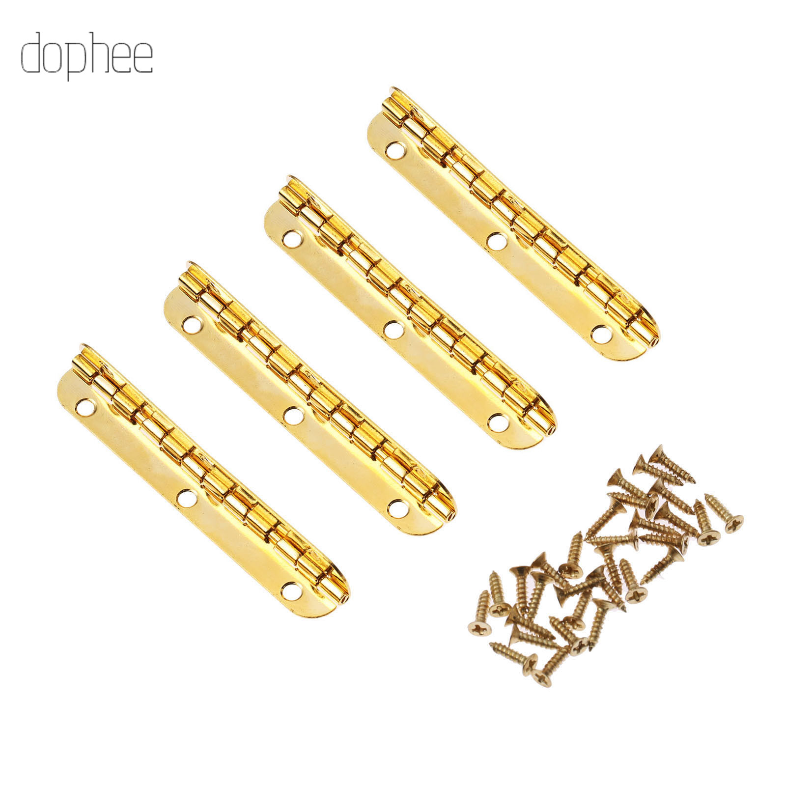 dophee 2/4pcs Long Decorative Hardware Furniture Fittings Cabinet Wooden Gold Gift Box 65*15mm 100*9mm